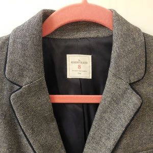 GAP Jackets & Coats - GAP Gray Academy Blazer with Elbow Patches Size 8